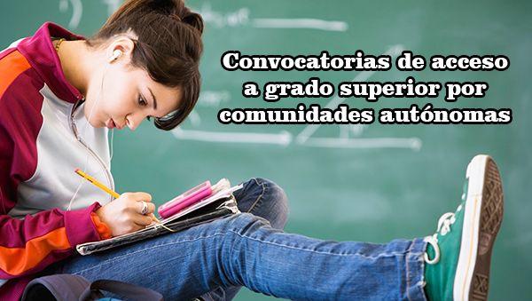 Convocatorias Grado Superior por Comunidades Autonomas